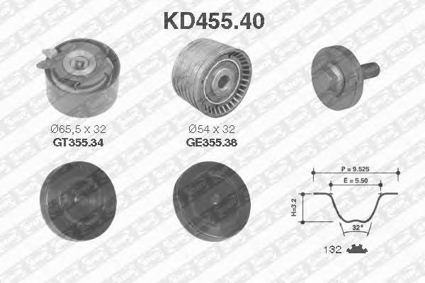KD45540 Комплект ремня ГРМ RENAULT LOGAN/SANDERO (Z=132) 16V