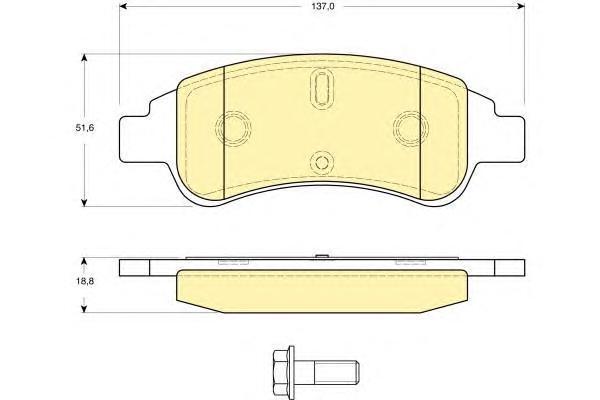 6116234 Колодки тормозные CITROEN BERLINGO/C4/XSARA/PEUGEOT PARTNER передние