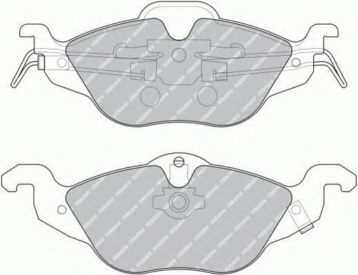 FDB1293 Колодки тормозные OPEL ASTRA G 1.2/1.4/1.6/1.7D передние
