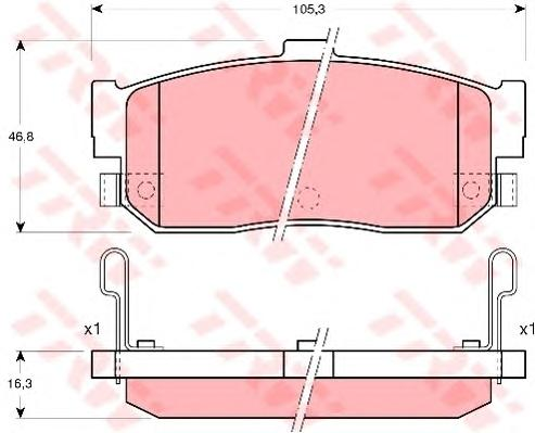 GDB3181 Колодки тормозные NISSAN ALMERA 95-/MAXIMA 95-/PRIMERA 90-98/SUNNY 87-95 задние