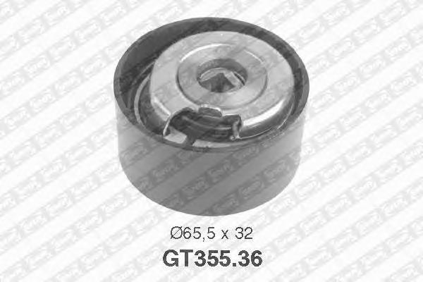 GT35536 Деталь GT355.36_pолик натяжной pемня ГPМ