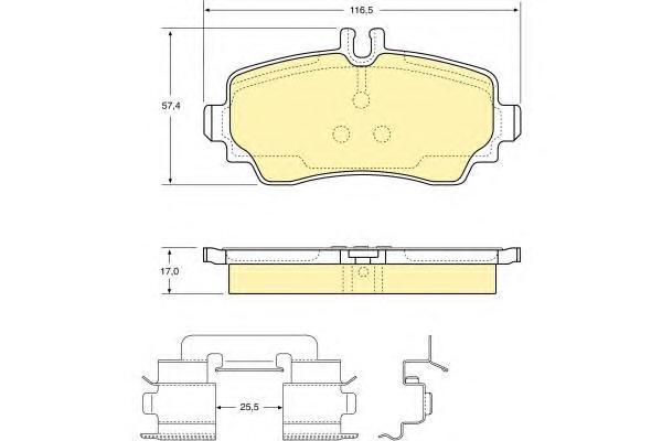 6112931 Колодки тормозные MERCEDES A-CLASS W168 97-04 передние