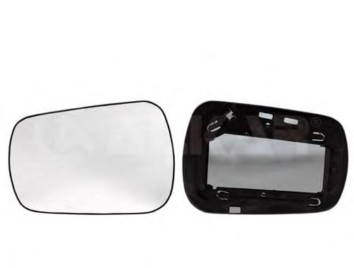 6401387 Стекло зеркала левое / FORD Fiesta-V,Fusion 11/01~