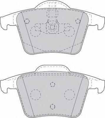 FDB1632 Колодки тормозные VOLVO XC90 2.4-4.4 02- задние