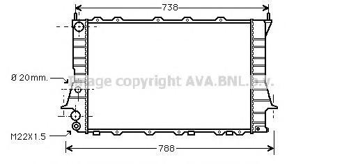AIA2077 Радиатор AUDI A100 / A6 1.8-2.3/2.4/2.5D 91-98