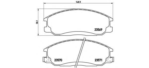 P30013 Колодки тормозные HYUNDAI H-1/SANTA FE/TRAJET/SSANGYONG REXTON 01- передние