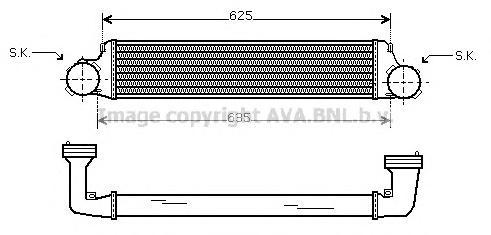 BW4280 Интеркулер BMW E36/E83 1.8D-3.0D 98-/04-