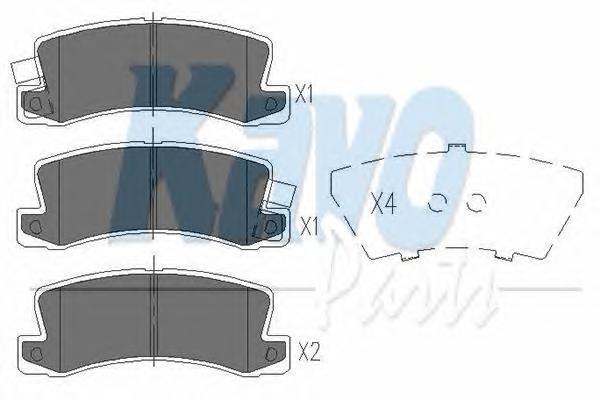 KBP9022 Колодки тормозные TOYOTA AVENSIS/CAMRY/CARINA/CELICA/COROLLA 86-03 задние