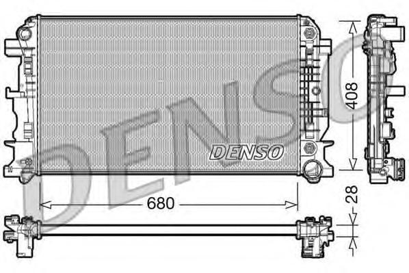 DRM17044 Радиатор MB SPRINTER 1.8-3.5D A/T 06-