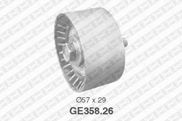 GE35826 Ролик промежуточный ремня ГРМ ALFA ROMEO: 145, 146, 147, 155, 156, 166, GT, GTV, Spider, LANCIA: Dedra, Delta, Lybra, FI
