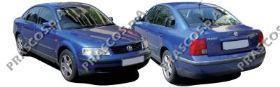 VW0521244 Накладка переднего бампера левая, черная / VW Passat-V 10/96~10/00