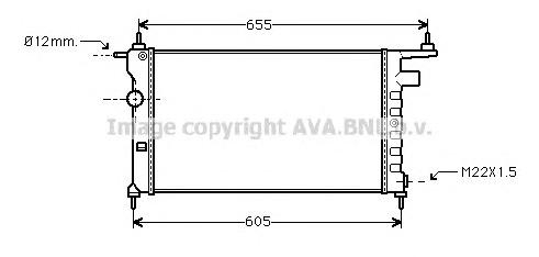 OLA2183 Радиатор OPEL CORSA 1.2-1.6 94-01
