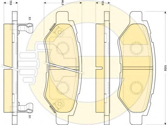 6146029 Колодки тормозные CADILLAC CTS 2.8 08- задние