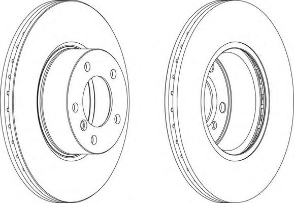 DDF1717 Диск тормозной BMW 3 E90/91/92 2.0-2.5 05-/X1 E84 2.0 09- передний D=312мм.