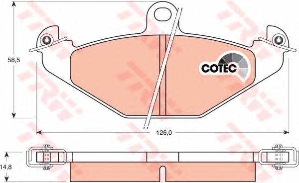 GDB1041 Колодки тормозные дисковые задн CHRYSLER: VIPER 92-, VIPER Convertible 92-,  RENAULT: 21 89-94, 21 седан 86-94, 21 униве