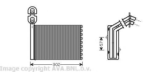 VWA6201 Радиатор отопителя VW SHARAN 1.8-2.8/1.9D/2.0D 95-10