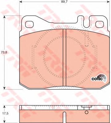 GDB264 Колодки тормозные MERCEDES W123/W126 76-91 передние