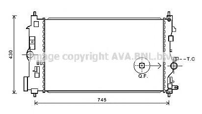 OLA2591 Радиатор OPEL INSIGNIA/ZAFIRA C 1.4T M/T 08-