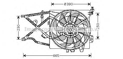OL7505 Мотор вентилятора OPEL VECTRA B -03