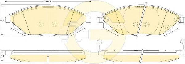 6146069 Колодки тормозные CHEVROLET SPARK 10- передние