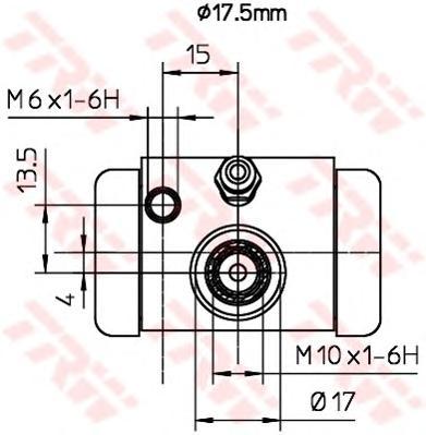 bwc252 Колесный тормозной цилиндр