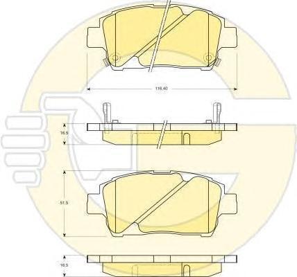 6132429 Колодки тормозные TOYOTA COROLLA/PRIUS/YARIS 1.0-1.6 99- передние