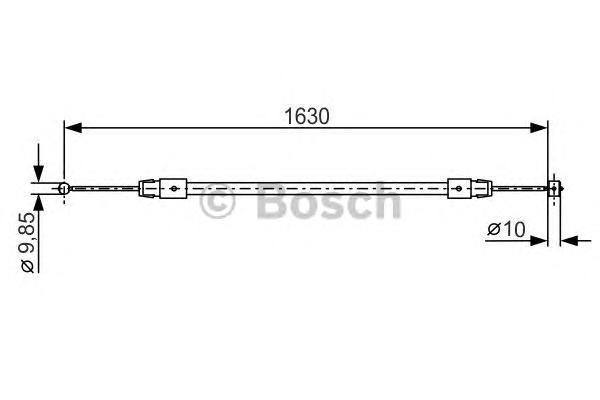 1987482187 Трос ручного тормоза AUDI Q7/TOUAREG 1630/1422мм