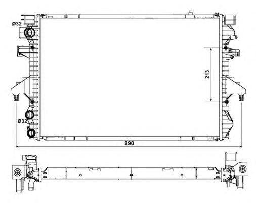 53796 Радиатор VW T5 03-09