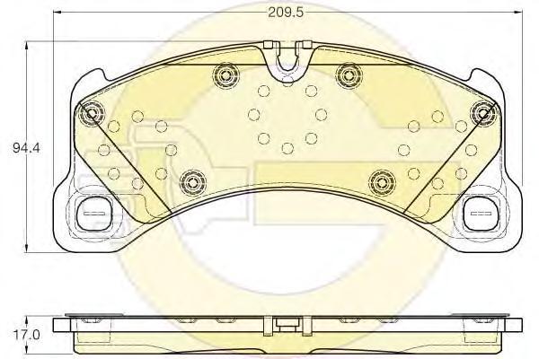6120045 Колодки тормозные PORSCHE CAYENNE 10- передние