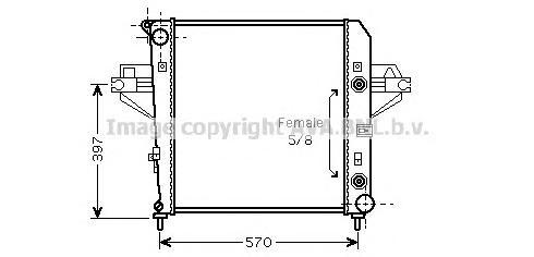 JE2043 Радиатор JEEP GRAND CHEROKEE 3.7 A/T 01-08