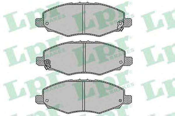 05P1449 Колодки тормозные TOYOTA HILUX 01- передние