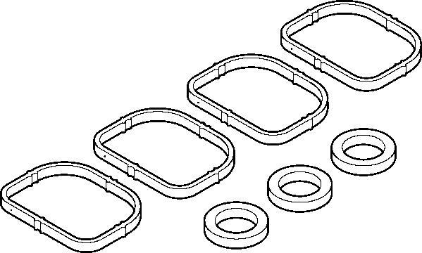 445130 Прокладка впуск.коллектора BMW 1(E87)/3(E90)/5(E60) 1.6-2.0 к-кт