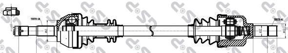 210102 Привод в сборе CITROEN JUMPER/DUCATO/BOXER 1.9D-2.8TDI 94-02 лев. 1.0-1.4T MG