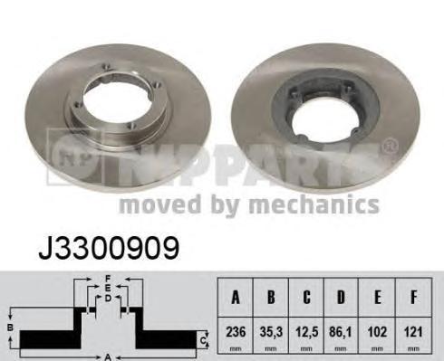 J3300909 Диск тормозной CHEVROLET SPARK 05-/DAEWOO MATIZ 98- передний