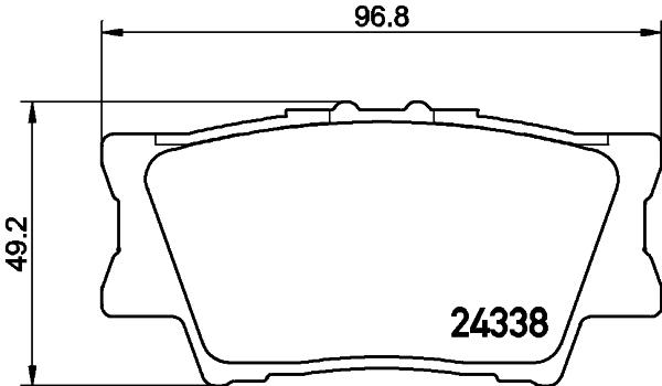 8DB355006881 Колодки тормозные TOYOTA RAV 4 06/CAMRY 2.4/3.5 06 задние