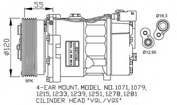 32206G Компрессор (оригинал) VAG A3, TT, Octavia, Bora