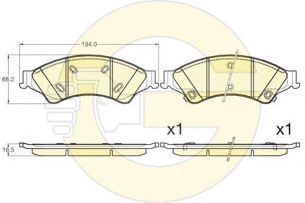 6120056 Колодки тормозные FORD RANGER 11- передние