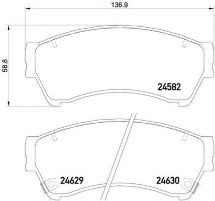 8DB355013761 Колодки тормозные MAZDA 6 1.8-2.5 08- передние
