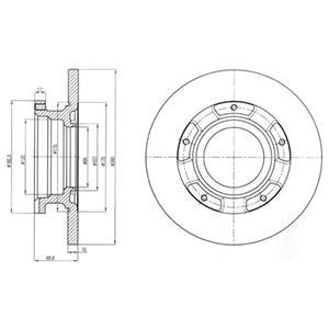 BG4008 Диск тормозной FORD TRANSIT 2.2-2.4 TDCI 06- задний без кольца АБС