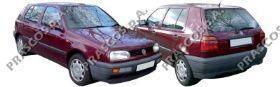 VW0327304 Зеркало в сборе с электроприводом левое / VW Golf-III, Vento 11/91~