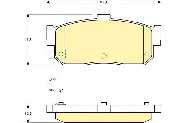 6132749 Колодки тормозные NISSAN ALMERA 95-/MAXIMA 95-/PRIMERA 90-98/SUNNY 87-95 задние