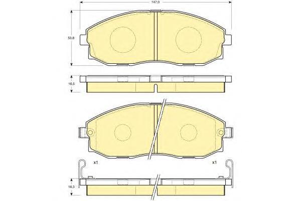 6132019 Колодки тормозные HYUNDAI H-1/STAREX 2.4-2.5D 97- передние