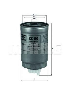 KC80 Фильтр топливный VAG A4/A6/PASSAT 1.9 TDI