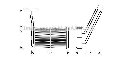 AU6195 Радиатор отопителя LAND ROVER: FREELANDER 2 (FA_) 2.2 TD4/2.2 TD4 4x4/3.2/3.2 i6 HSE 4x4 06 -