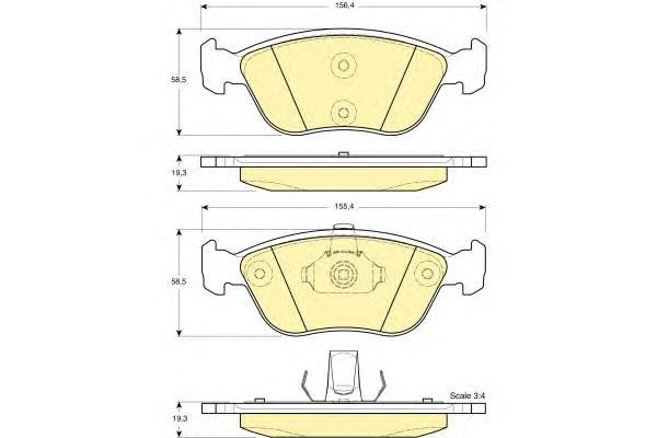 6114062 Колодки тормозные VOLVO C70/S70/V70 2.0-2.5 96-05 передние