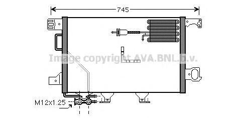MSA5361 Конденсер MB W203 2.7 CDI 00-