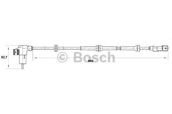 0265006209 Датчик частоты вращения колеса CITROEN: BERLINGO 1.1 i/1.4 i/1.6 16V/1.8 D/1.8 i/1.8 i 4WD/1.9 D/1.9 D/1.9 D 4WD/2.0