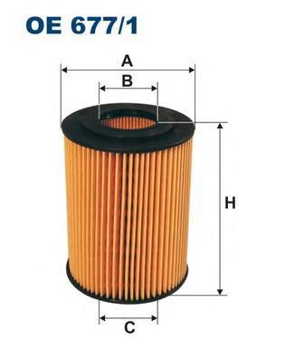 OE6771 Фильтр масляный CHRYSLER 300C 3.0D/MB W204/W211/W164/W251/SPRINTER 906 3.0D