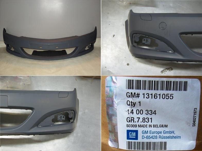 13161055 Бампер передний грунтованный / OPEL Astra-H (с омывателем и противотуманками)
