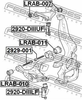 LRAB011 Сайлентблок рычага LAND ROVER DISCOVERY 04- пер.подв.